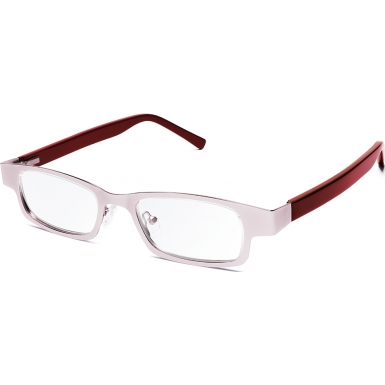 Eyejusters Pink Burgundy Adjustable Reading Glasses - 0.00 to 3.00 Strength