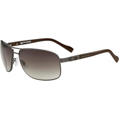 BOSS Orange Mens BO 0107-S 9T6 HA Gunmetal Brown Sunglasses