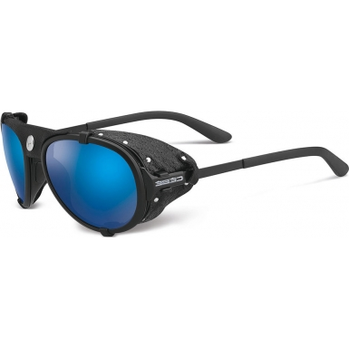 Cebe Lhotse Matt Black Blue Mirror Sunglasses