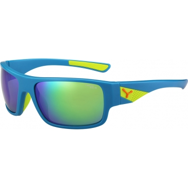 Cebe Whisper Matt Blue Lime 1500 Grey Flash Mirror Green Sunglasses