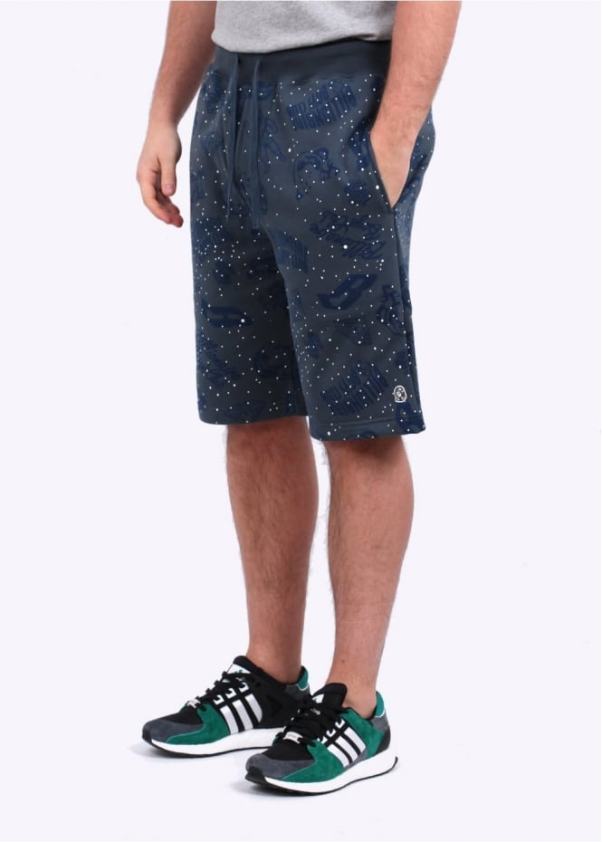 Galaxy All-Over Print Shorts - Blue
