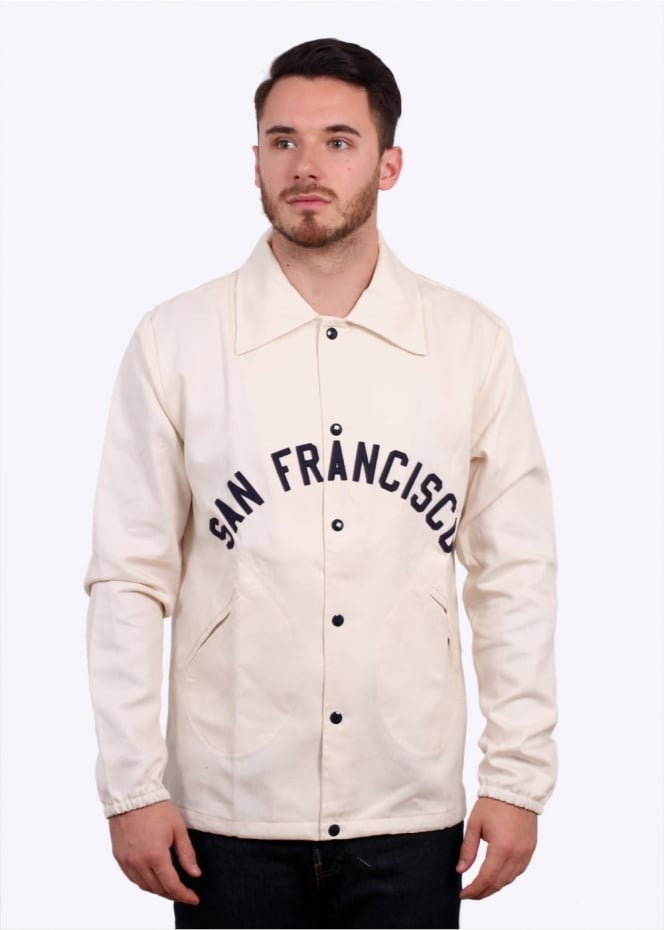 Surf Riders Windbreaker - Cream / Navy