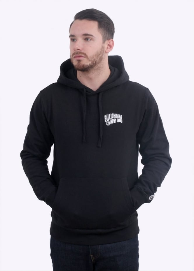Small Arch Pop-Over Hoodie - Black