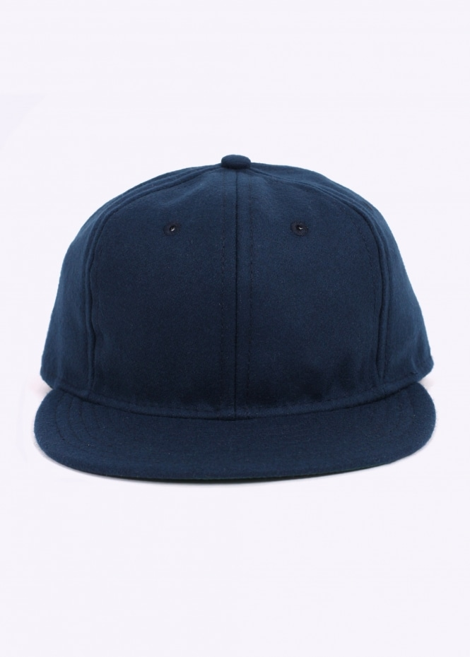 Wool 6 Panel Strap Back - Navy