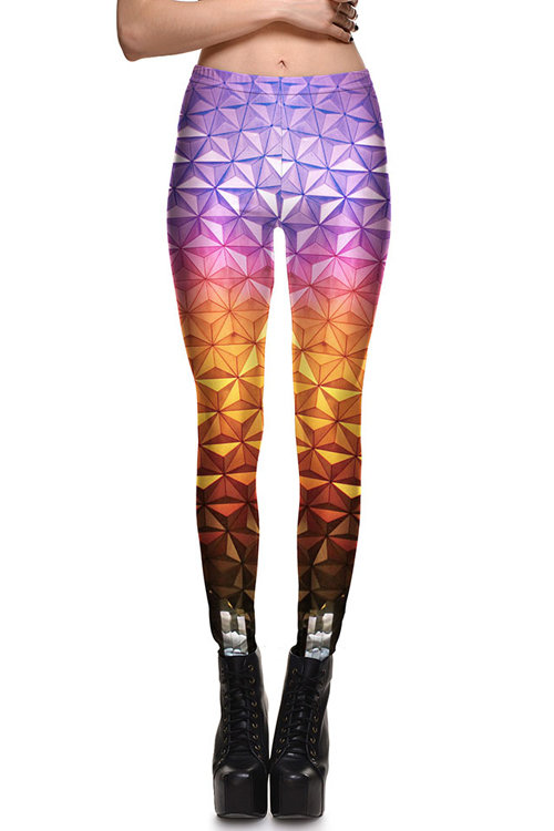 Fashion Gradient Clearance Pattern Leggings
