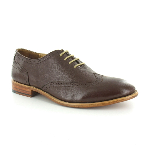 Paolo Vandini Napony Mens Leather Oxford Shoes - Brown