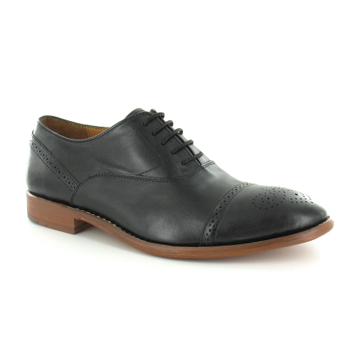 Paolo Vandini Napoli Mens Leather Oxford Shoes - Black