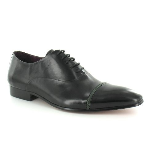 Paolo Vandini Burrington Leather Mens Oxford Dress Shoes - Black