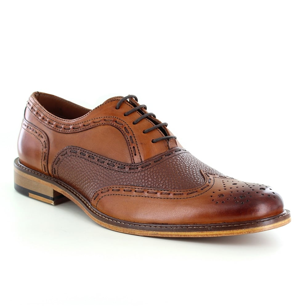 Paolo Vandini Penryn Mens Leather Brogue Shoes - Tan