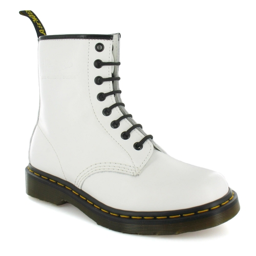 Dr Martens 1460 Smooth DMC Unisex 8-Eyelet Leather Boots - White