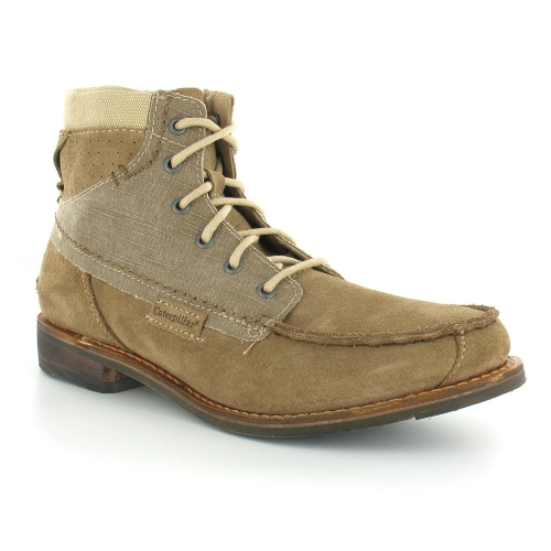 Caterpillar James P714986 Mens Suede Leather & Textile Lace-Up Boots - Soil Brown