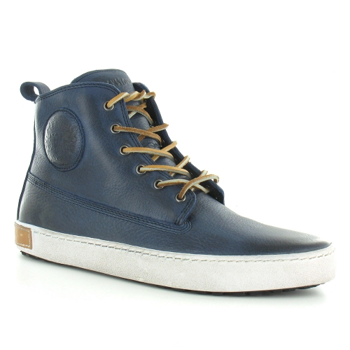 Blackstone AM02 Mens Leather 6-Eyelet Boots - Indigo Blue