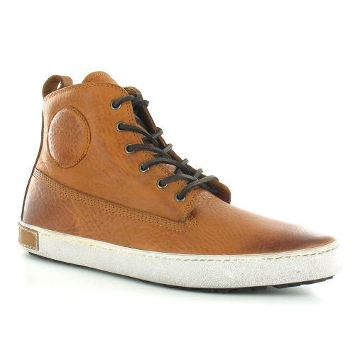 Blackstone AM02 Leather Mens Trainer Boots - Ember Tan Brown