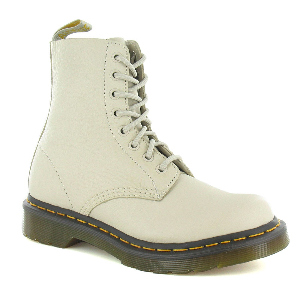 Dr Martens Pascal Womens Leather 8-Eyelet Boots - Ivory