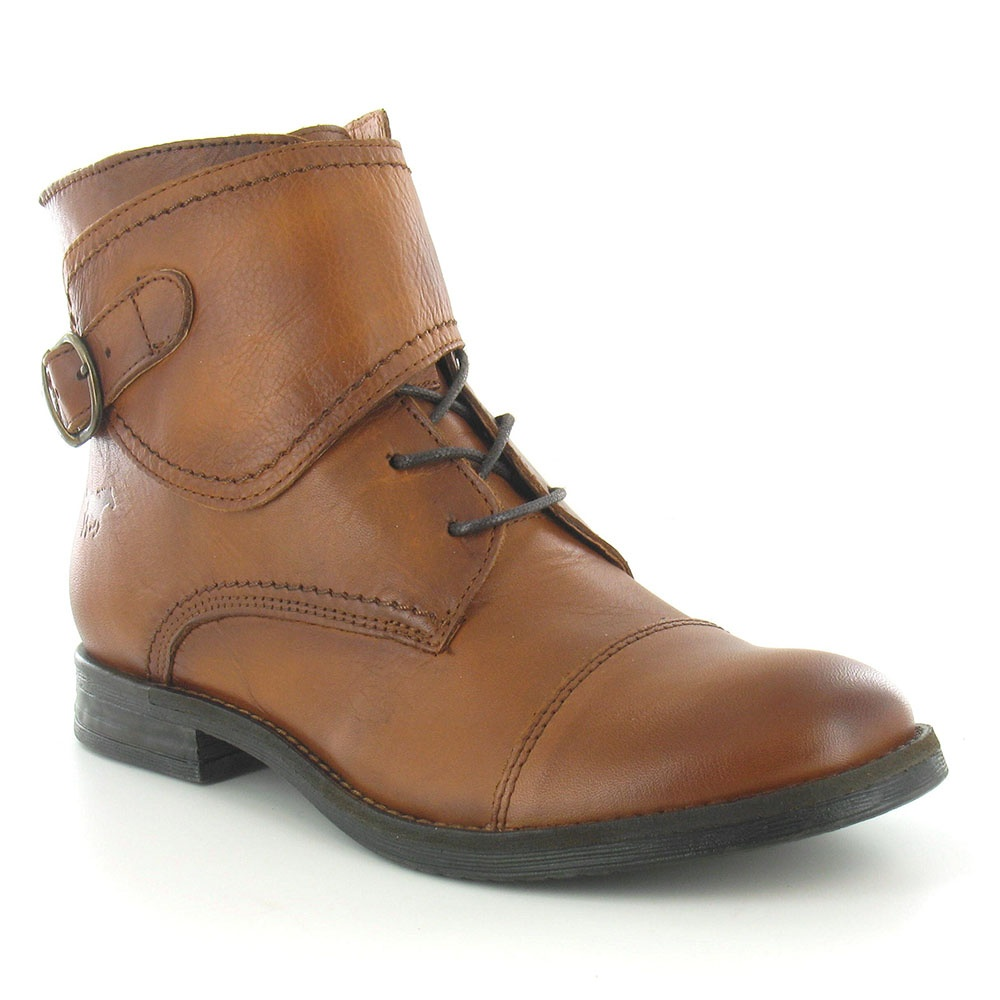 Mustang 2840-503-300 Womens Leather Ankle Boots - Nut Brown