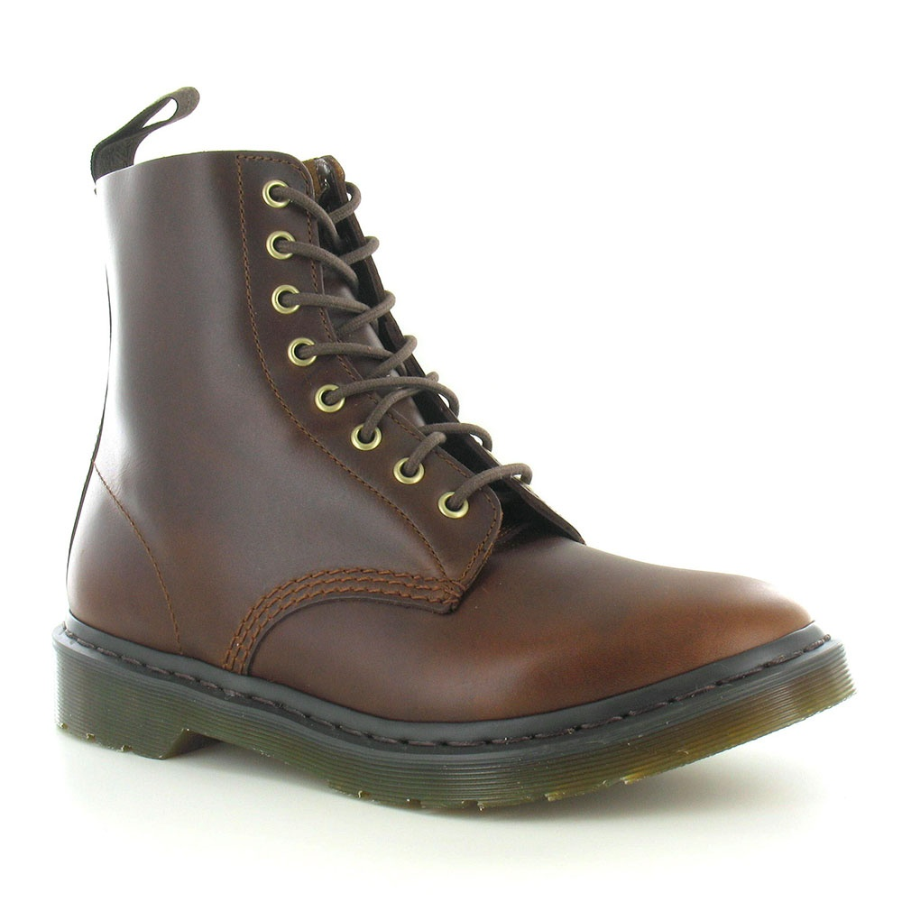 Dr Martens Pascal Unisex Leather 8-Eyelet Boots - Smokethorn Brown