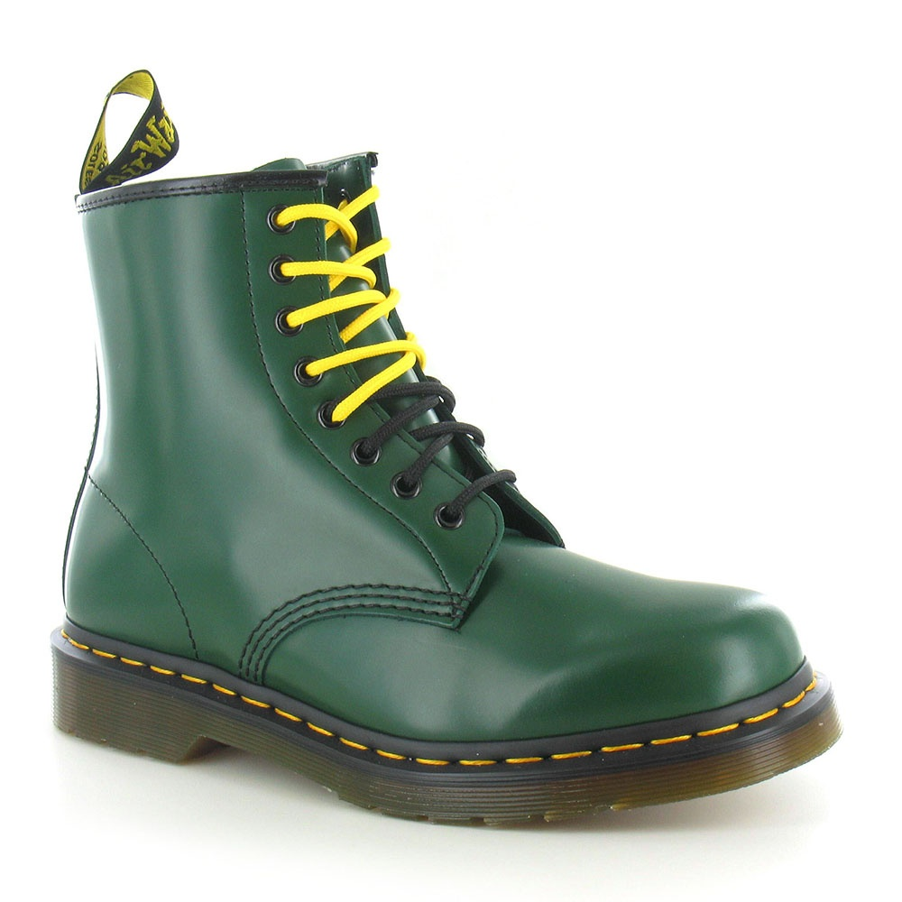Dr Martens 1460 Unisex Leather 8-Eyelet Boots - Green