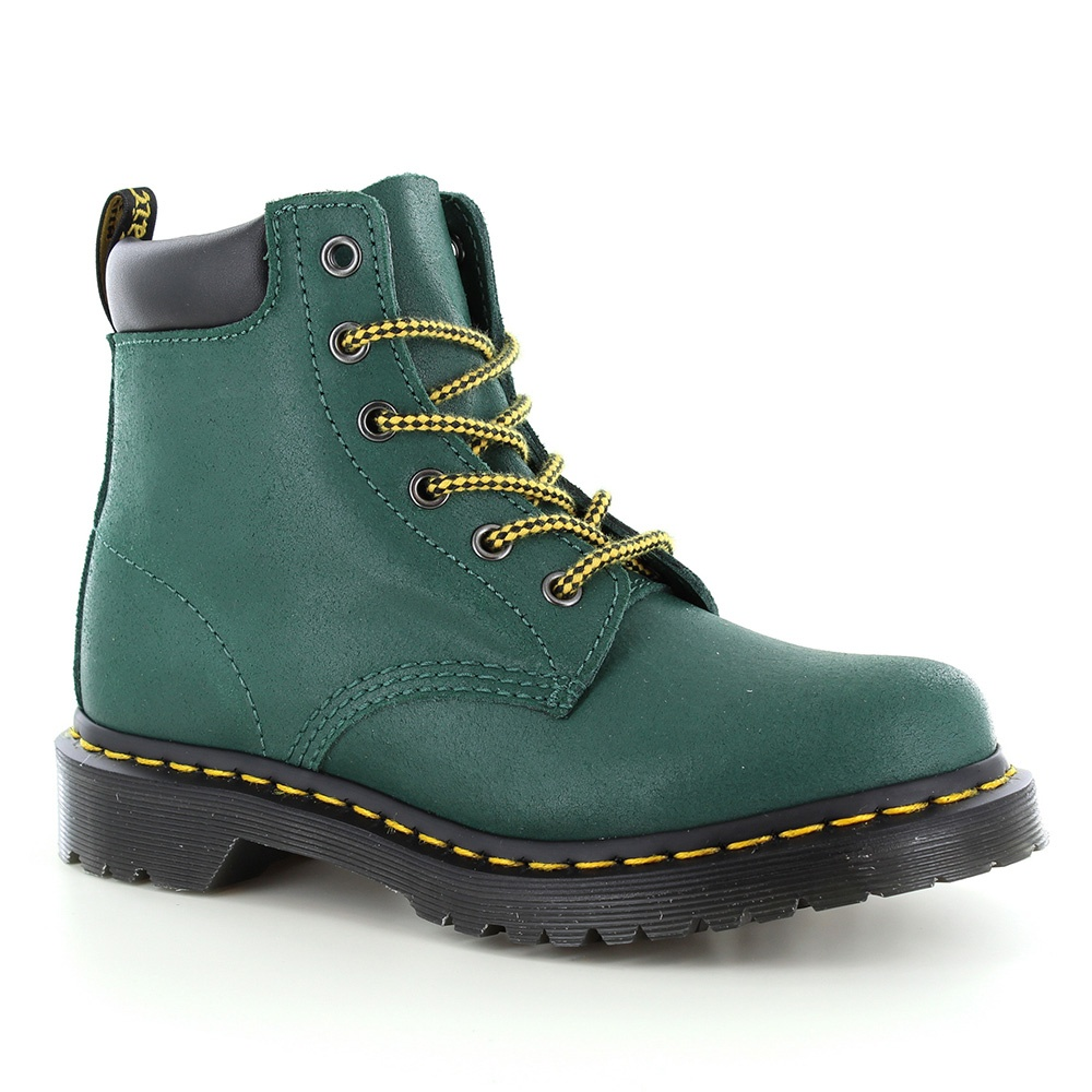 Dr Martens 939 Hiker Womens Greasy Suede Ankle Boots - Teal Turquoise