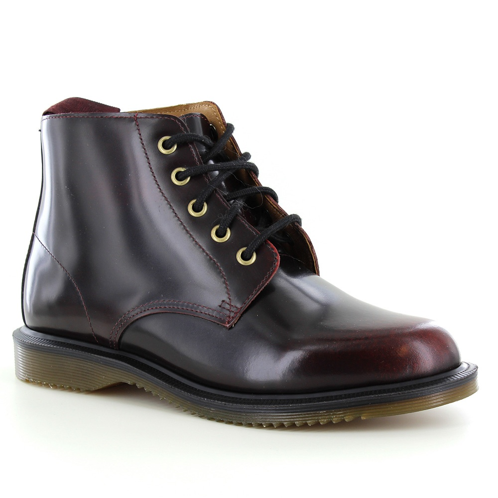 Dr Martens Emmeline Womens Leather Boots - Cherry Red