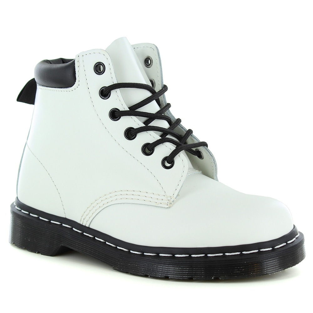 Dr Martens 939 Unisex Leather Ankle Boots - White