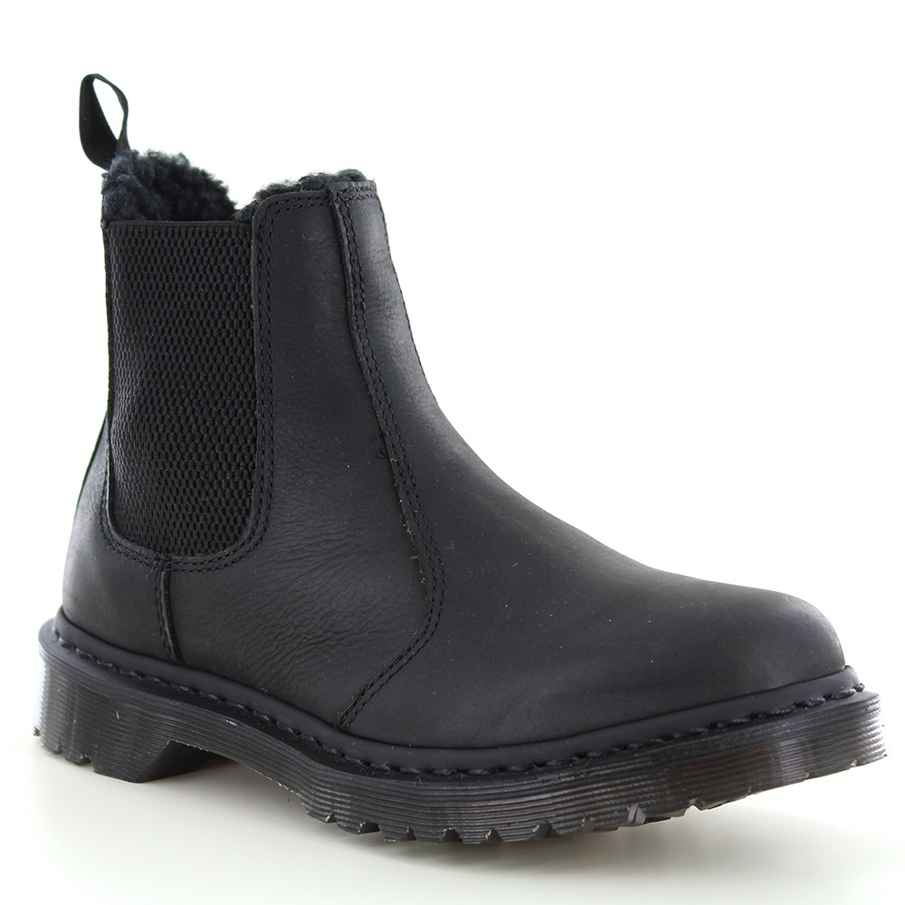 Dr Martens Leonore Womens Warm Leather Chelsea Boots - Black
