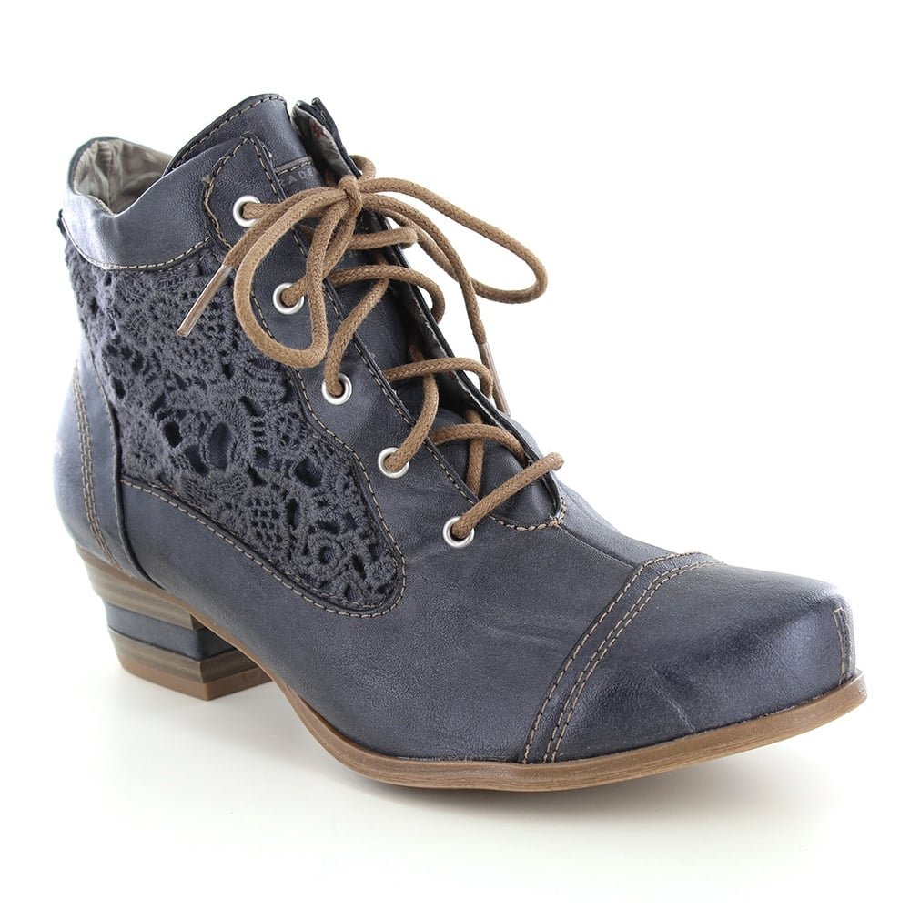 Mustang 1187-501-200 Womens Lacy Summer Ankle Boot - Stone Grey