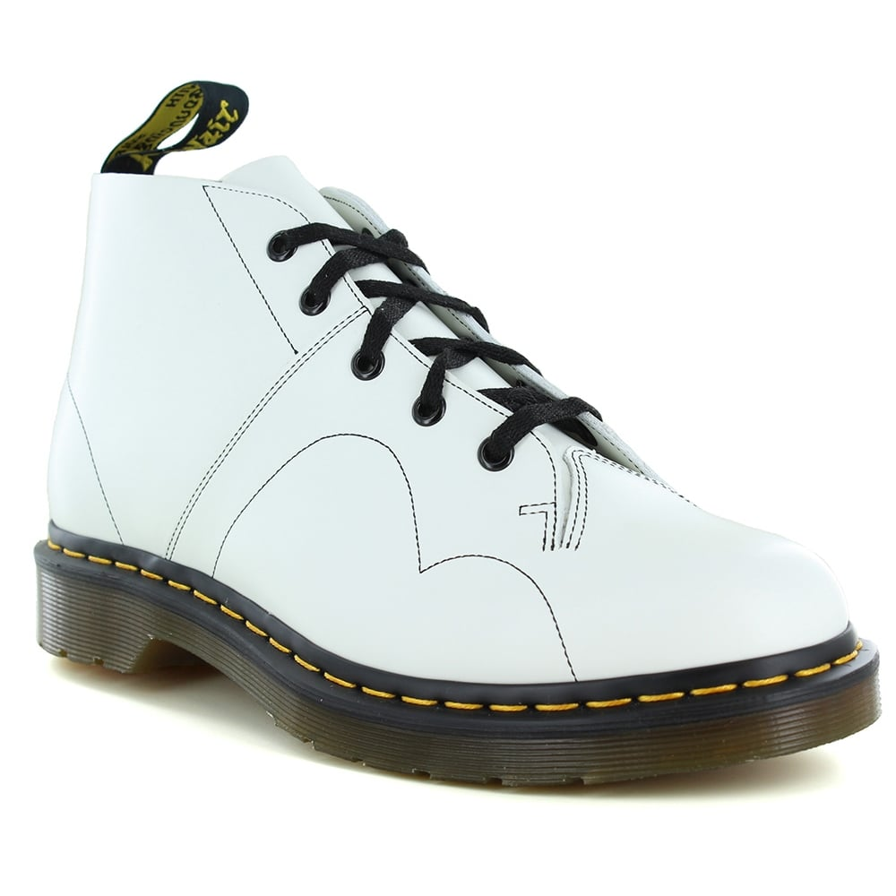 Dr Martens Church Womens Leather Monkey Boots - White