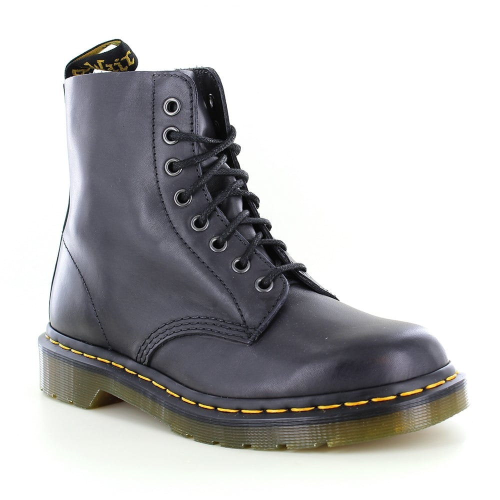 Dr Martens Pascal Unisex Leather 8-Eyelet Boots - Charcoal