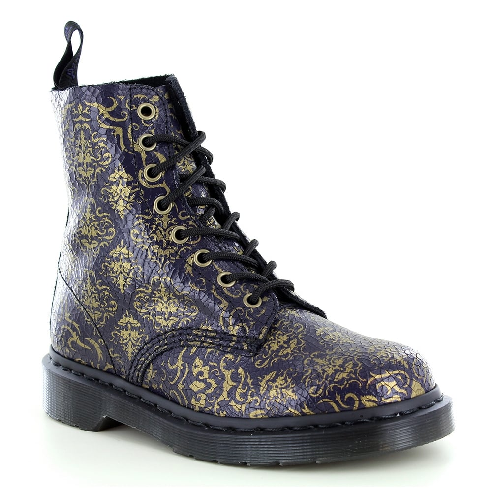 Dr Martens Pascal Baroque Womens 8 Eyelet Leather Boots