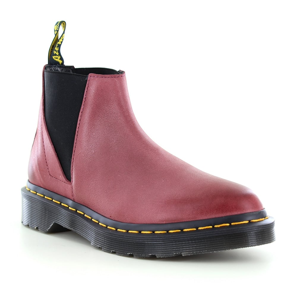 Dr Martens Bianca Womens Leather Chelsea Boots - Wine