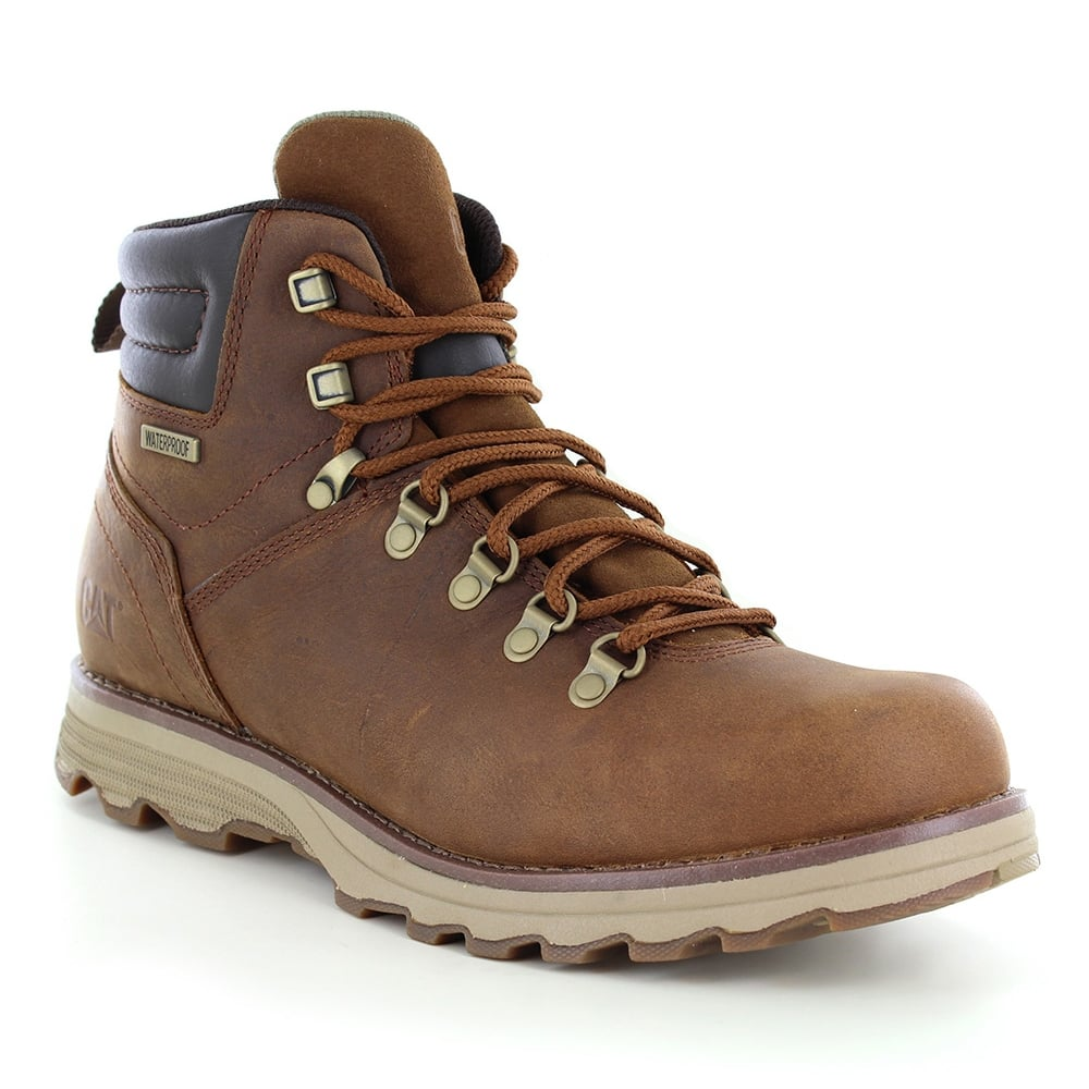 Caterpillar (CAT) Sire P720692 Mens Waterproof Leather Boots - Brown Sugar