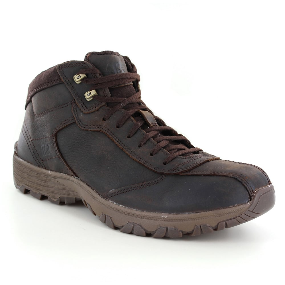 Caterpillar (CAT) Loop P720715 Mens Low Leather Ankle Boots - Dark Brown