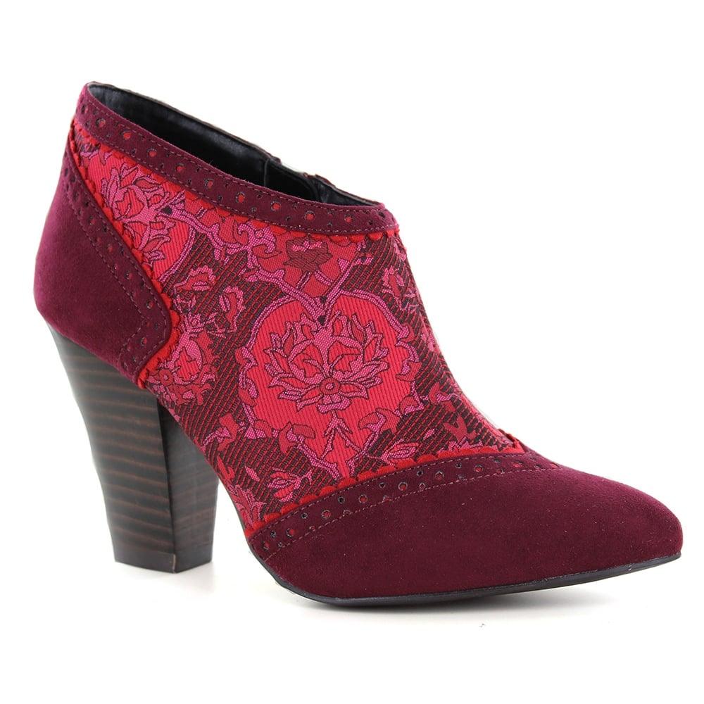 Ruby Shoo Nicola Womens Ankle Boots - Wine