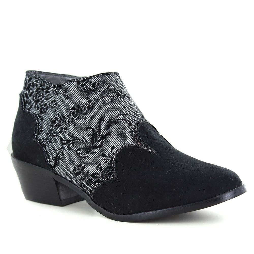 Ruby Shoo Juliette Womens Ankle Boots - Black