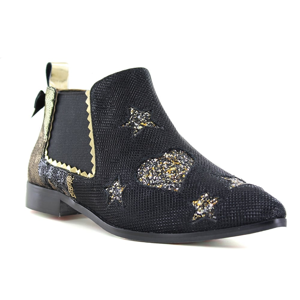 Irregular Choice Starlight Impress 4352-1A Womens Chelsea Boots - Black