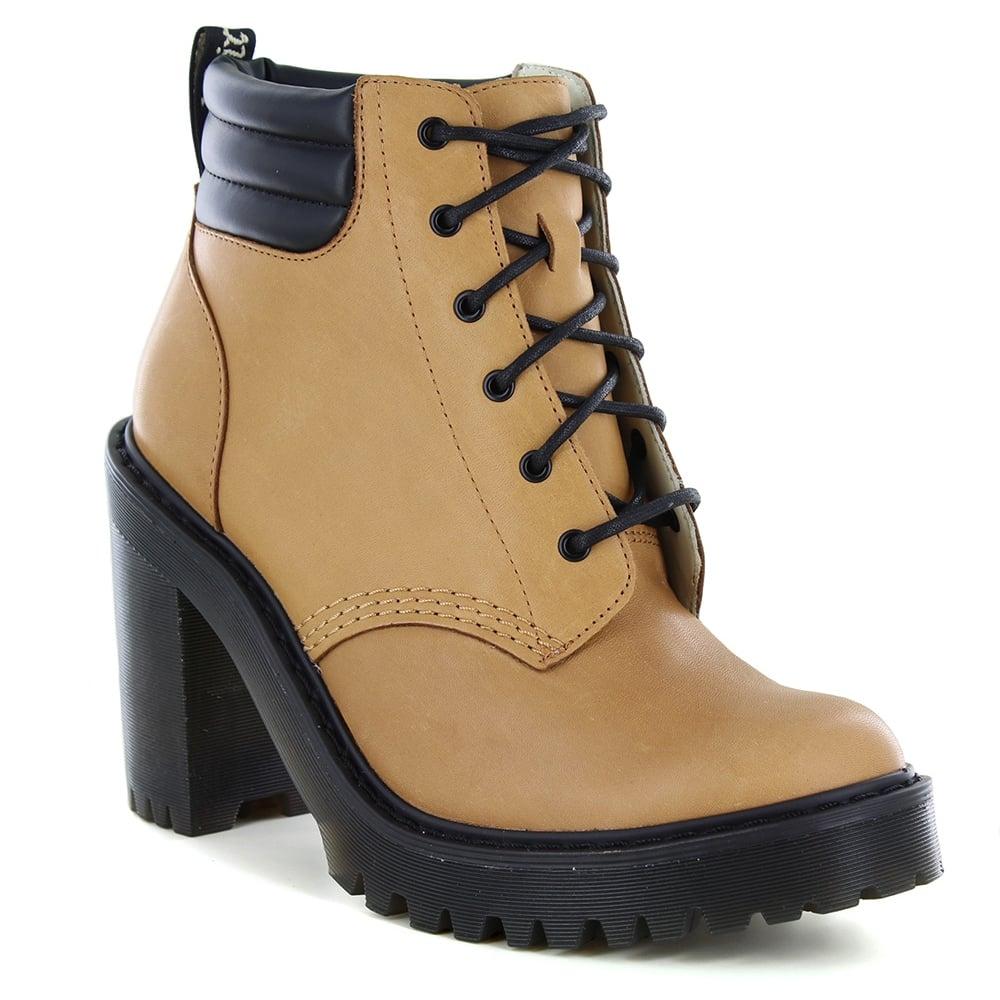 69f385649e88 Dr Martens Persephone Womens High Heeled Boots - Tan