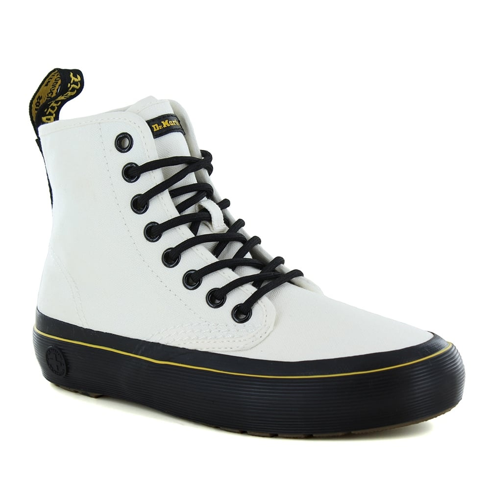 Dr Martens Monet Womens Canvas 8-Eyelet Boots - White