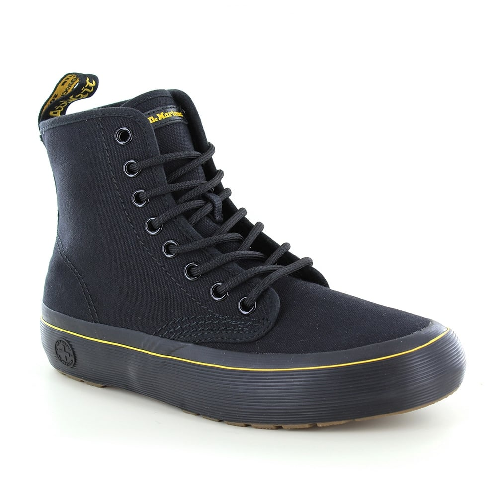 Dr Martens Monet Womens Canvas 8-Eyelet Boots - Black