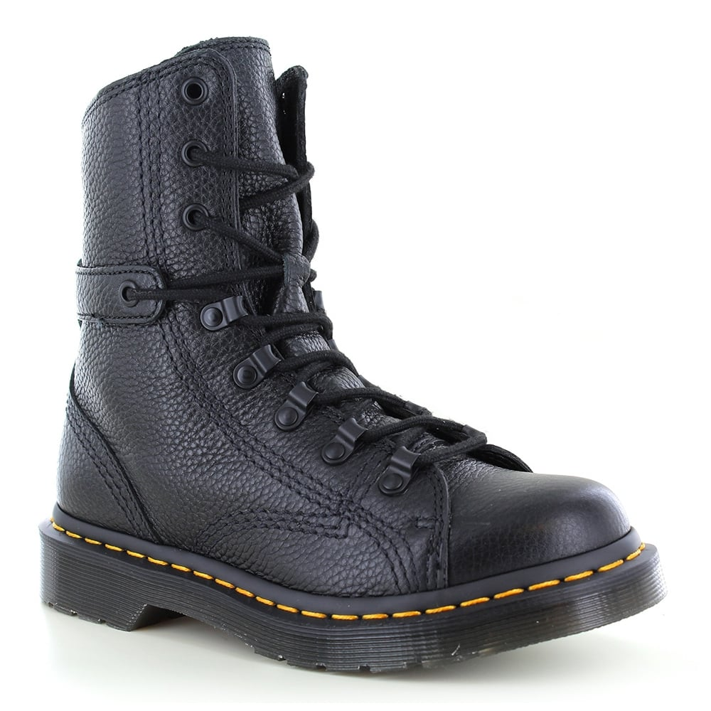 Dr Martens Coraline Womens Leather 8-Eyelet Boots - Black