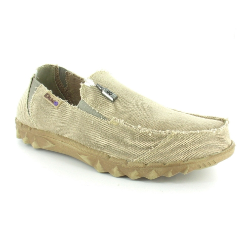 Hey Dude Farty Mens Vintage Canvas Slip-on Shoes - Beige