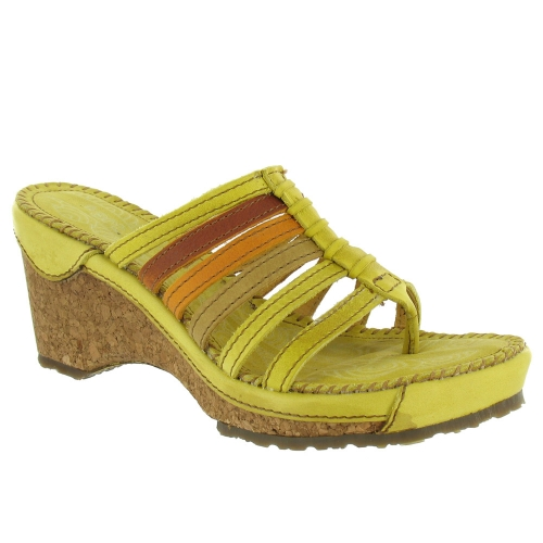 Art Stylish W113 Heeled Sandals - Yellow
