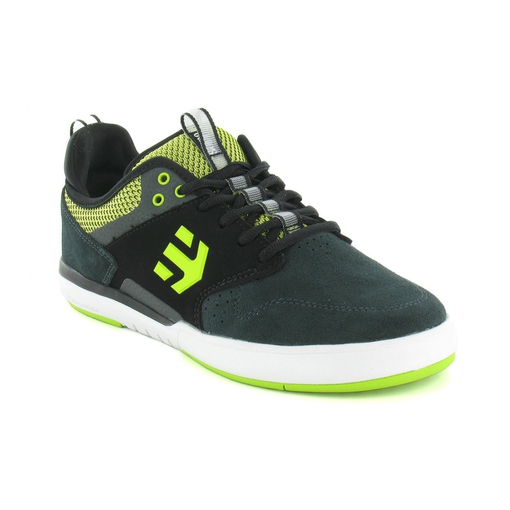 Etnies Aventa Mens Leather Skate Shoes - Black, Grey & Green