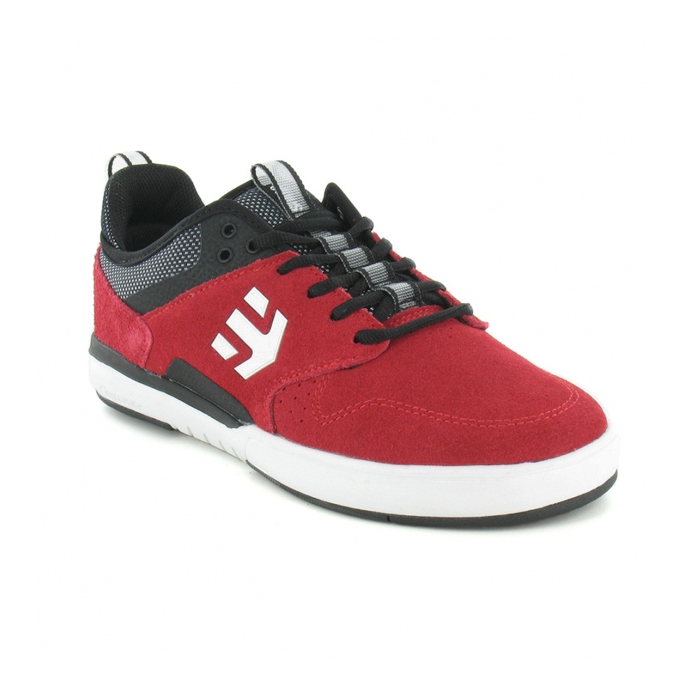 Etnies Aventa Mens Leather Skate Shoes - Red, Black & Grey