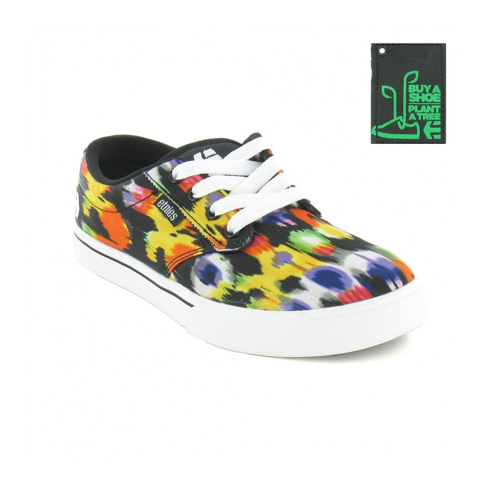 Etnies Jameson 2 Womens Skate Shoes - Black, Orange & Yellow