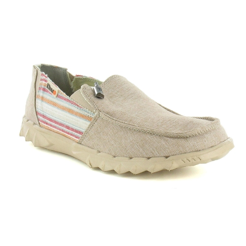 Hey Dude Farty 2 Mens Vintage Canvas Slip-On Shoes - Incas Beige