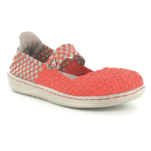 Hey Dude Moka E-Last Womens Mary Jane Slip-On Shoes - Coral Pink