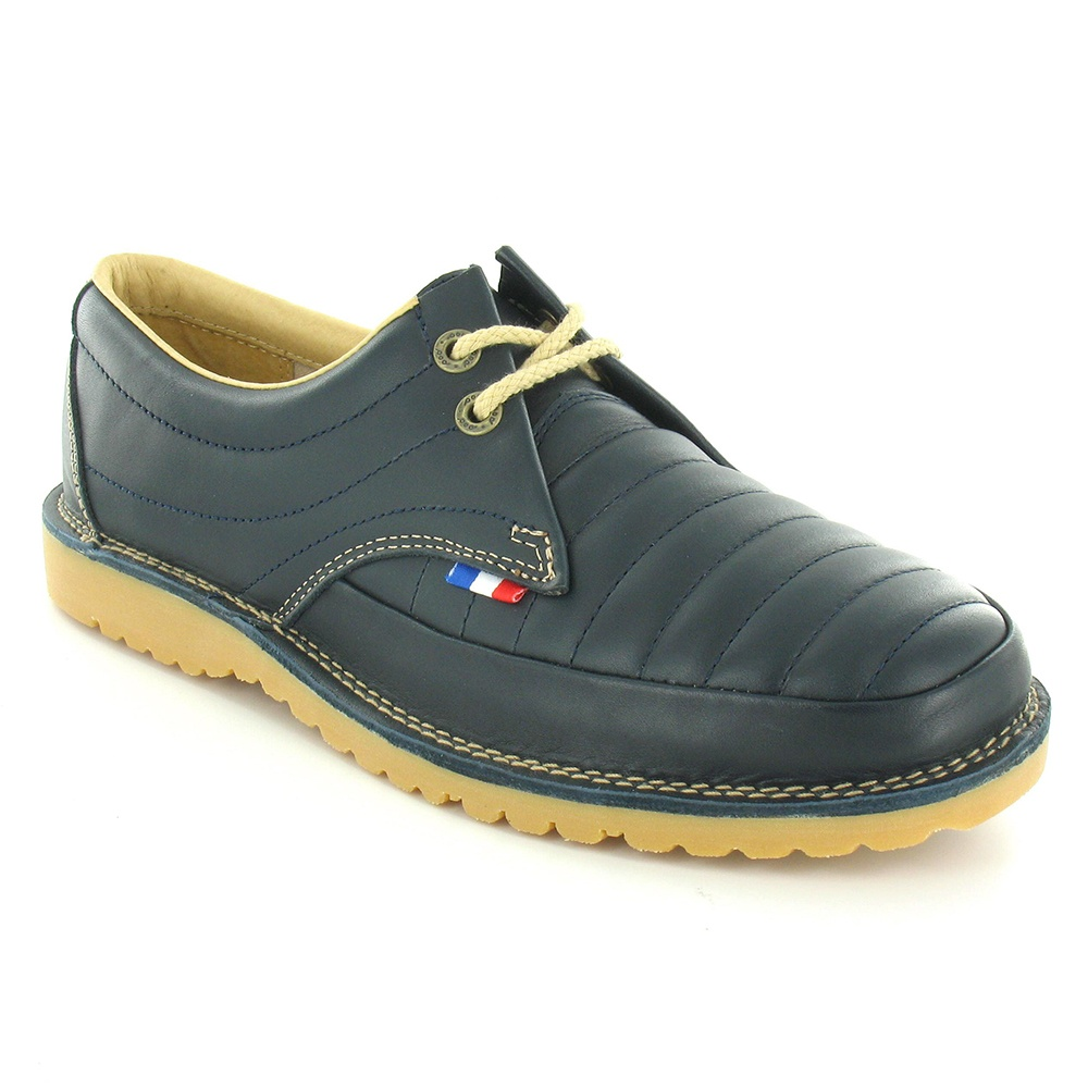 Heritage Townsend Mens Leather 2-Eyelet Shoes - Navy Blue