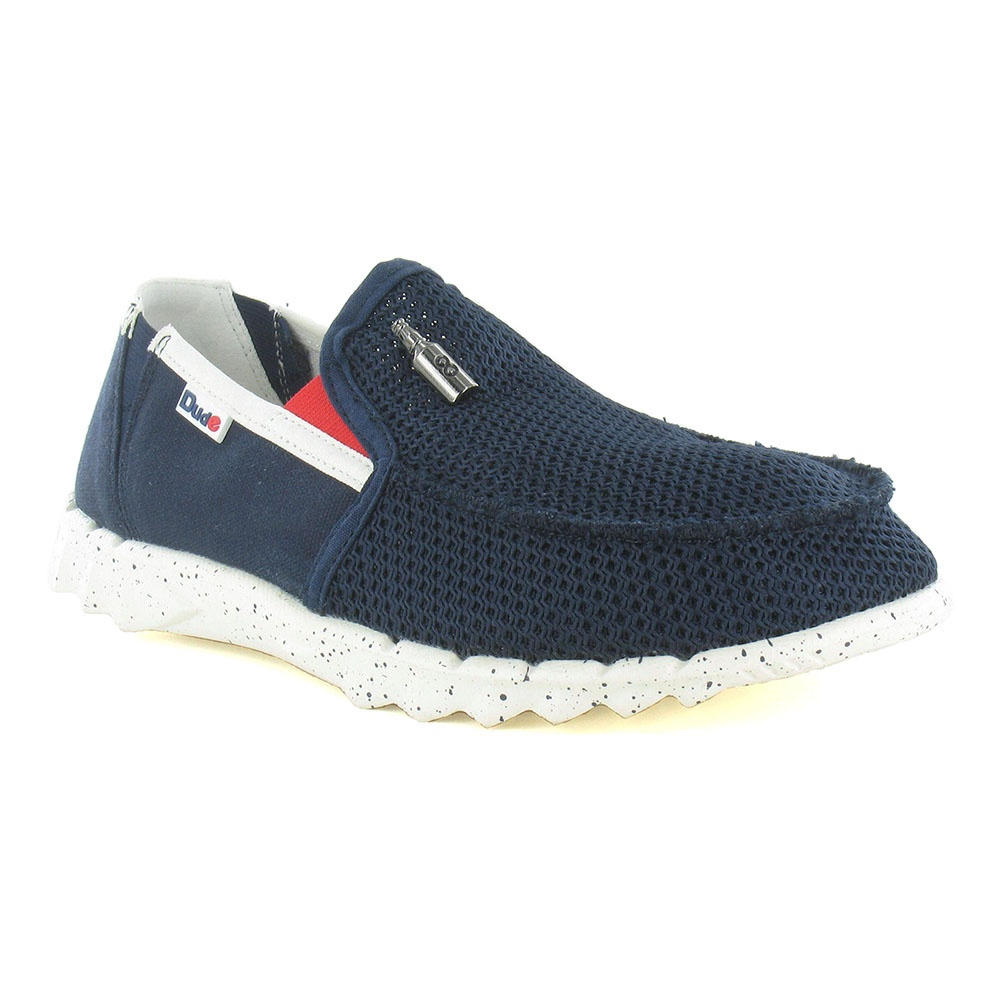 Hey Dude Farty Mesh Mens Canvas Slip-on Shoes - Navy Blue