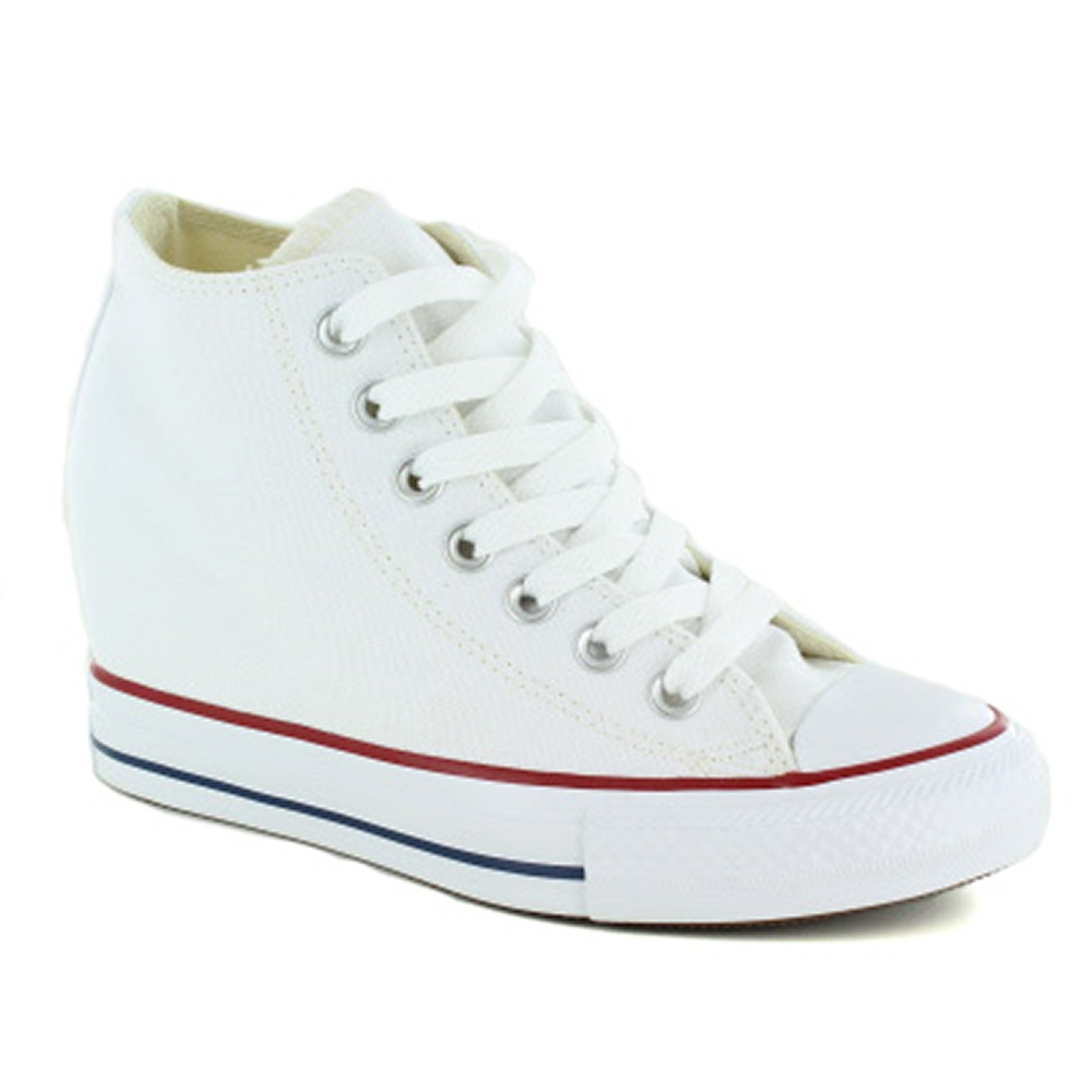 547200C Womens Chuck Taylor All Star Lux Wedge Trainers - White