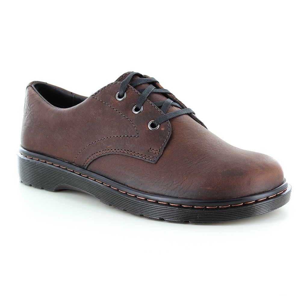 Dr Martens Andre Mens Leather Lace-Up Gel Heel Shoes - Dark Brown